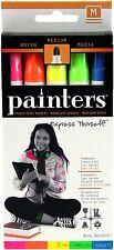 Elmer`s Painters Opaque Paint Markers, Set of 5 Markers, Neon Colors, Medium Poi