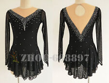 2018 New Ice Figure Skating Dress Figure skaitng Dress For Competition Black