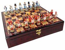 Alicia en el país de las maravillas Fantasía Juego de ajedrez con tablero de almacenamiento de información Color Cerezo