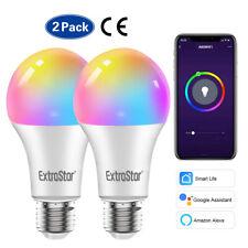2xWiFi RGB Smart LED Light Bulb for Apps by iOS Android Amazon Alexa Google Home
