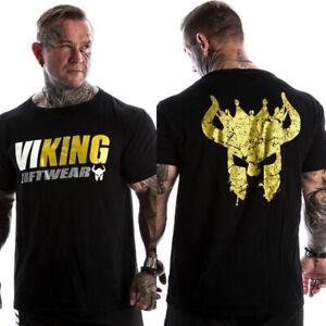 Men Print Short T-shirt Gym Fitness Bodybuilding Workout Cotton T shirt Tank Top