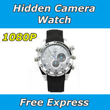 Hidden Camera Watch Recording Waterproof 1080P HD Night Vision Spy Video DVR