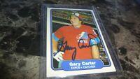 1982 FLEER GARY CARTER   AUTOGRAPHED BASEBALL CARD