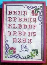 Ancien tableau représentant un ABÉCÉDAIRE belle décoration wal decoration