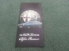 1985 1986 ALFA ROMEO 33 1.3 S / 1.5 / GOLD & GREEN CLOVERLEAF UK FOLDER BROCHURE