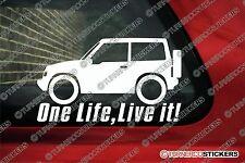 2x ONE LIFE LIVE IT SUZUKI VITARA JX Hardtop 3-door ADESIVI fuoristrada 4x4