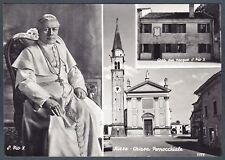 TREVISO RIESE PIO X 16 PAPA - POPE - PAPST Cartolina FOTOGRAFICA.