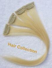 "Blonde- 12"" Human Hair Clip In Extensions for Highlight(4pcs)"