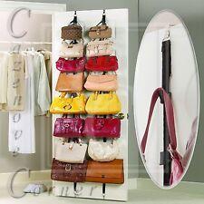 Handbag door organiser - Handbag hanger hooks. Hanging Handbag storer - 16 Hook
