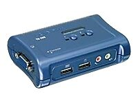 lasTRENDnet TK-209K 2-Port USB KVM Switch Kit with Audio #TK209K