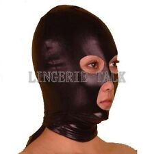 Spandex With Latex Hood Mask Mouth Nose Eye Open Club Party Costume FG H1033B