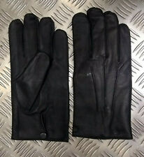 Genuine Military Issue Officers Black Leather Soft Lined 3 Dart Parade Gloves