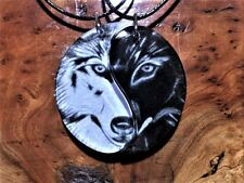 Wolf Friendship Necklaces,Best Friends,Anniversary Gift,BFF Jewellery,Yin Yang