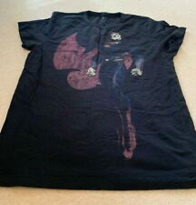 Mens FCUK SUPERMAN T Shirt Logo JUSTICE LEAGUE 2XL Navy DC COMICS