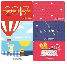 Lot of (6) J C JC Penney Gift Cards No $ Value Collectible Balloon Hearts Grad