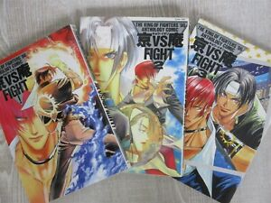 KING OF FIGHTERS '96 KYO vs. IORI FIGHT w/Poster Manga Anthology Comic 1-3 Book