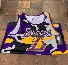 Los Angeles Lakers NBA UNK Purple Gold Camo Tank Top Men's Size LARGE
