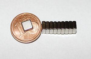 10 Stück Neodym Quadrat  Magnete  5 x 5 x 2 mm  Powermagnet für Reedkontakte