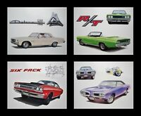 OLD DODGE DEALER POSTERS 1968 1969 1970 SUPERBEE POLARA 500 CORONET 440 SIX-PACK
