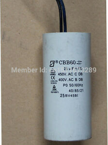 25uf water Pump Capacitor for Lx pump LX TDA200 JA200 compatible with 2HP jet