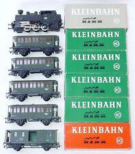 Kleinbahn HO 1:87 ÖBB D-120 TANK STEAM LOCOMOTIVE + 5x PASSENGER WAGON Set MIB!