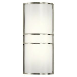 Kichler 2 Light Wall Sconce LED, Brushed Nickel - 11315NILED
