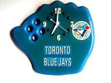 Toronto Blue Jays Wooden Wall Glove Clock (Epoxy Finish)(Battery Operated)
