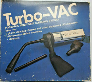 VINTAGE  TURBO-VAC PORTABLE MINIATURE CLEANING SYSTEM FOR SMALL COMPONENTS A10