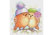 Cross Stitch Kit Lovebirds M-175