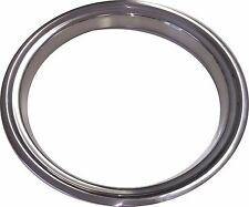 "15"" NOS CHEVROLET GMC Stainless Steel Beauty Rings TRIM RING SET Of 4"