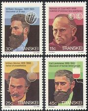 Transkei 1984 médica/Rontgen/Rayos X/Sangre/personas/salud/bienestar 4v Set (n22735)