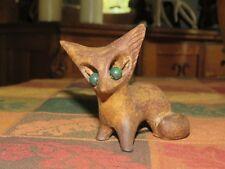 FOX a guardare-Freddo Gettare Bronzo Scultura Animale da oriele Bronzo di Devon