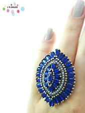 Turkish Ottoman 925 Sterling Silver Jewelry Victorian Sapphire Ring Size 9 A76