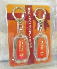 New 2 pack Gama Sonic Solar Powered Flashlight Keychain *FREE SHIP*