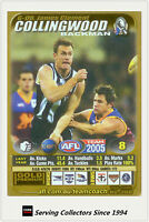 2005 AFL Teamcoach Gold Trading Card G8 James Clement (Collingwood)
