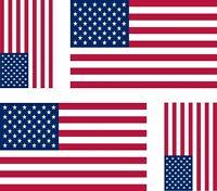 4x sticker Adesivo Adesivi Vinyl bandiera usa stati uniti america americana
