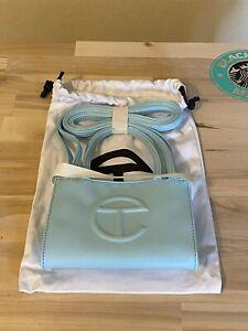 Telfar Small Pool Blue Shopping Bag 100% Vegan Leather