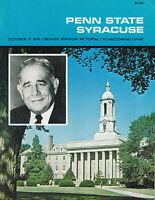 1970 Penn State Nittany Lions vs Syracuse Orangemen NCAA Football Program GD/VG