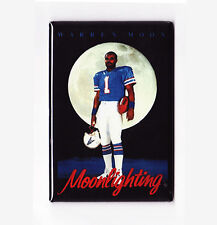 WARREN MOON / MOONLIGHTING - COSTACOS BROTHERS POSTER MAGNET (nike oilers nfl)