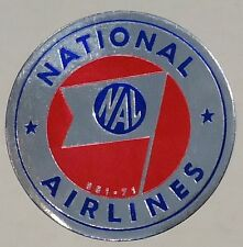 National Airlines 1950's? Foil Luggage Baggage Sticker Label  unused