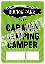Rock im Park Caravan Plakette,Rock im Park Caravan Ticket.Camping Plakette