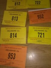 hunting permits doe deer delaware couny collectables