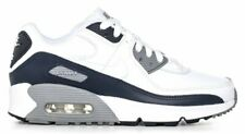 NIKE AIR MAX 90 WOMENS GIRLS TRAINERS WHITE LEATHER CD6864-105
