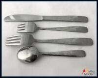 Scandinavian Danish Mid Century Modern Gourmet Settings Stainless Flatware Set