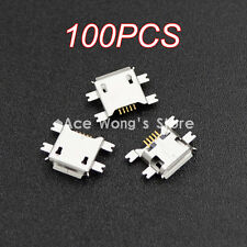 New 100pcs Micro USB Type B Female 5Pin Socket Jack Connector For Mobile phone
