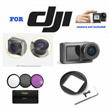 WIDE ANGLE LENS +3 FILTERS FILTER KIT FOR DJI OSMO ACTION CAMERA WITH 2 SCREENS