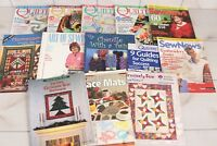 Lot of 13 Quilt Magazines Vintage Back Issues McCalls Patterns Sewing Chenille