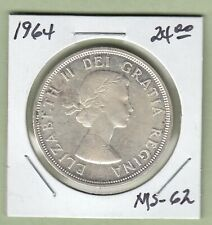 1964 Canadian One Silver Dollar Coin - MS-62