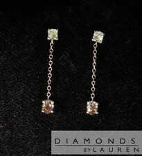 .55ctw Yellow and Brown Diamond Earrings R7714 Diamonds by Lauren