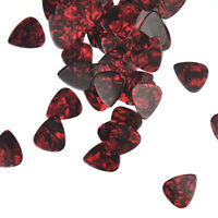 Lots of 50pcs Heavy 1mm Celluloid Guitar Picks Plectrums Red Pearl New
